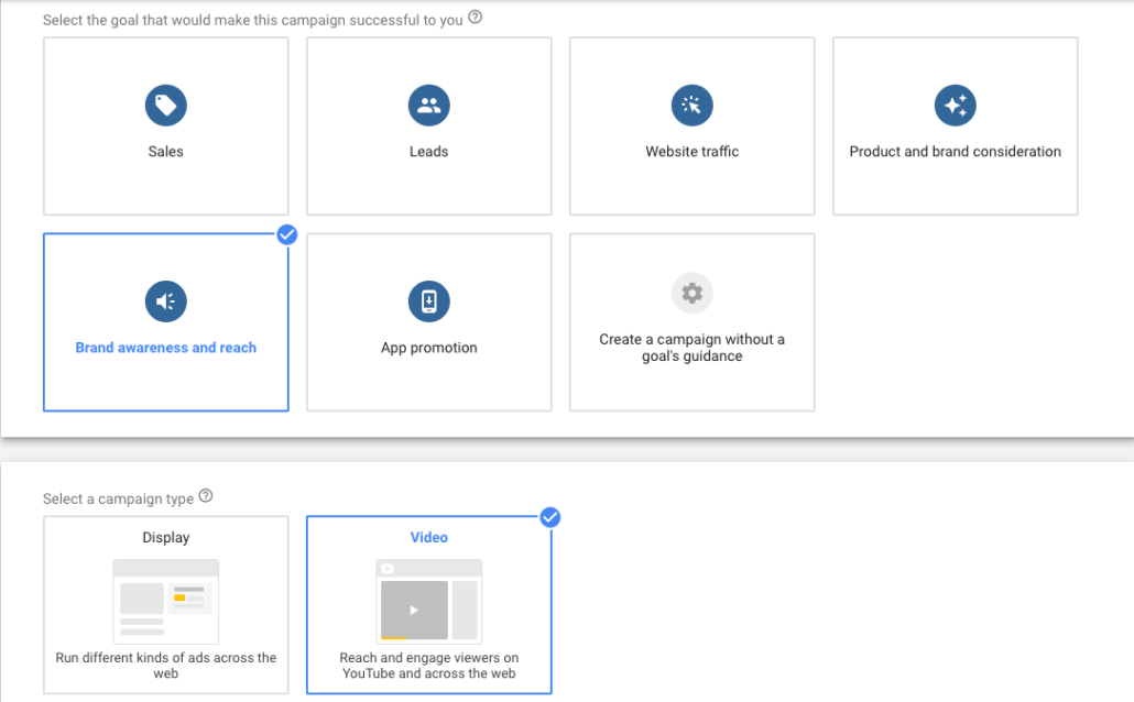 Updates to Google Ads: Goal Based workflow examples